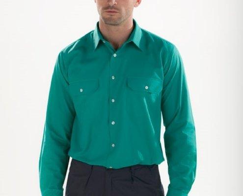 Camisa verde Facel - vestuario laboral en Valencia