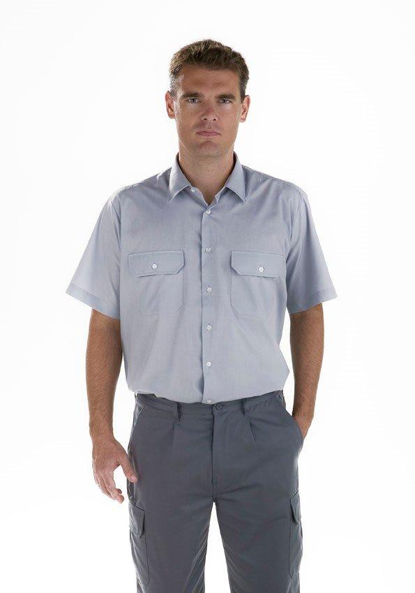 Camisa gris Facel - vestuario laboral en Valencia