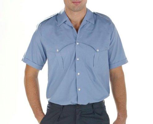 Camisa azul Facel - vestuario laboral en Valencia
