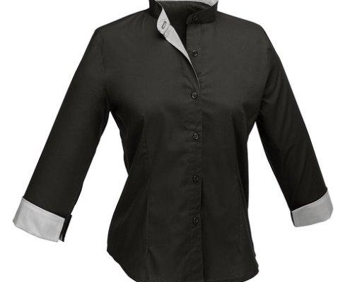 Blusa negra Facel - vestuario laboral en Valencia