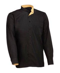 Camisa negra Facel - vestuario laboral en Valencia